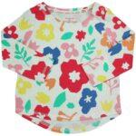 F&F Langarm T-shirt Blumen Gr. 6-9 Monate
